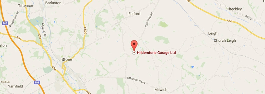 Hilderstone Garage Location Map